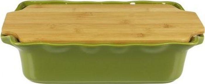 Форма для выпечки Appolia Cook&Stock, прямоугольная, с доской, цвет: зеленый, 2,7 л131033503В оригинальной коллекции Cook&Stoock присутствуют мягкие цвета трех оттенков. Закругленные углы облегчают чистку. Легко использовать. Компактное хранение. В комплекте натуральные крышки из бамбука, которые можно использовать в качестве подставки, крышки и разделочной доски. Прочная жароустойчивая керамика экологична и изготавливается из высококачественной глины. Прочная глазурь устойчива к растрескиванию и сколам, не содержит свинца и кадмия. Глина обеспечивает медленный и равномерный нагрев, деликатное приготовление с сохранением всех питательных веществ и витаминов, а та же долго сохраняет тепло, что удобно при сервировке горячих блюд.