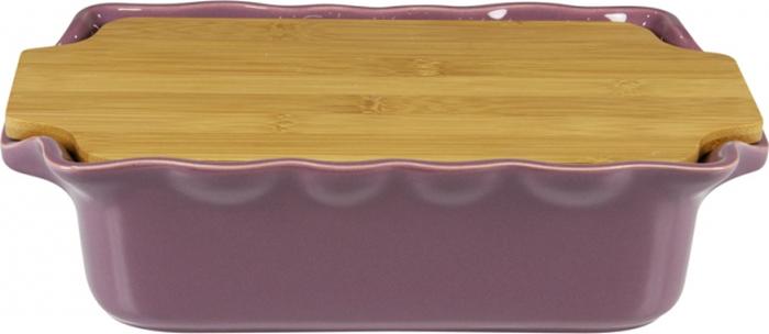 Форма для выпечки Appolia Cook&Stock, прямоугольная, с доской, цвет: сливовый, 2,7 л131033508В оригинальной коллекции Cook&Stoock присутствуют мягкие цвета трех оттенков. Закругленные углы облегчают чистку. Легко использовать. Компактное хранение. В комплекте натуральные крышки из бамбука, которые можно использовать в качестве подставки, крышки и разделочной доски. Прочная жароустойчивая керамика экологична и изготавливается из высококачественной глины. Прочная глазурь устойчива к растрескиванию и сколам, не содержит свинца и кадмия. Глина обеспечивает медленный и равномерный нагрев, деликатное приготовление с сохранением всех питательных веществ и витаминов, а та же долго сохраняет тепло, что удобно при сервировке горячих блюд.