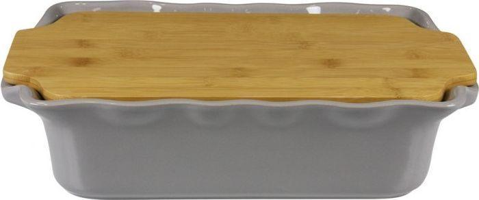 Форма для выпечки Appolia Cook&Stock, прямоугольная, с доской, цвет: темно-серый, 3,7 л131037006В оригинальной коллекции Cook&Stoock присутствуют мягкие цвета трех оттенков. Закругленные углы облегчают чистку. Легко использовать. Компактное хранение. В комплекте натуральные крышки из бамбука, которые можно использовать в качестве подставки, крышки и разделочной доски. Прочная жароустойчивая керамика экологична и изготавливается из высококачественной глины. Прочная глазурь устойчива к растрескиванию и сколам, не содержит свинца и кадмия. Глина обеспечивает медленный и равномерный нагрев, деликатное приготовление с сохранением всех питательных веществ и витаминов, а та же долго сохраняет тепло, что удобно при сервировке горячих блюд.