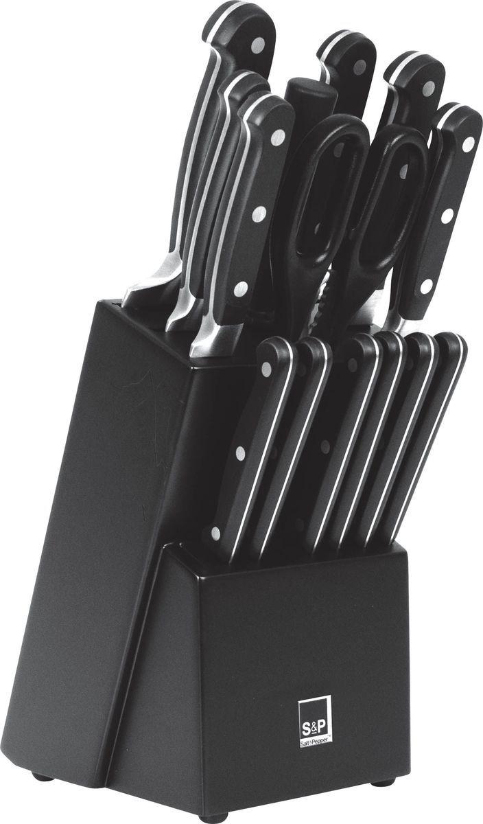 Набор ножей Salt&Pepper Blade, цвет: черный, 15 предметовBAM41967Набор Salt&Pepper Blade - это набор элегантных и долговечных ножей. Ножи идеально сбалансированы. Их легко держать и использовать, в то же время их стильная форма будет радовать вас каждый день!