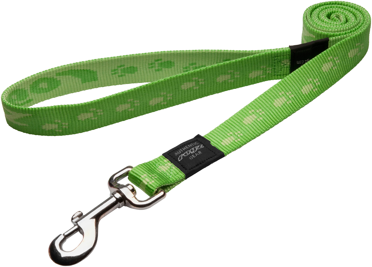 Поводок для собак Rogz Alpinist, цвет: зеленый, ширина 2,5 см. Размер XLHL27GПоводок для собак Rogz Alpinist изготовлен из нейлона и снабжен металлическим карабином. Особо мягкая, но очень прочная лента обеспечит безопасность на прогулке даже самым активным собакам.Все соединения деталей имеют специальную дополнительную строчку для большей прочности. Выполненные специально по заказу Rogz литые кольца гальванически хромированы, что позволяет избежать коррозии и потускнения изделия.