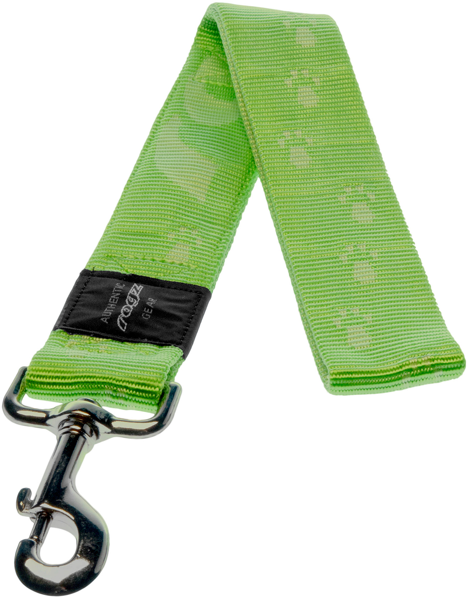 Поводок для собак Rogz Alpinist, цвет: зеленый, ширина 4 см. Размер XXLHL29GПоводок для собак Rogz Alpinist изготовлен из нейлона и снабжен металлическим карабином. Особо мягкая, но очень прочная лента обеспечит безопасность на прогулке даже самым активным собакам.Все соединения деталей имеют специальную дополнительную строчку для большей прочности. Выполненные специально по заказу Rogz литые кольца гальванически хромированы, что позволяет избежать коррозии и потускнения изделия.