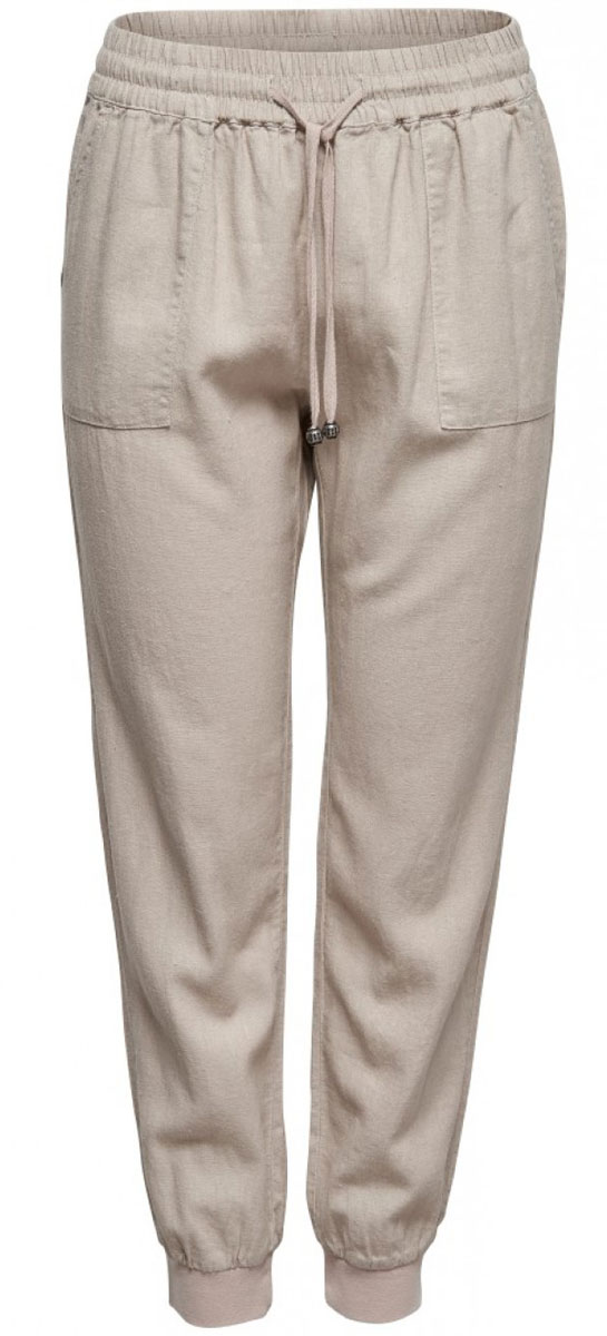 Брюки женские Only, цвет: бежевый. 15134591_Peyote. Размер XS-32 (40/42-32) шорты женские only цвет синий 15134356