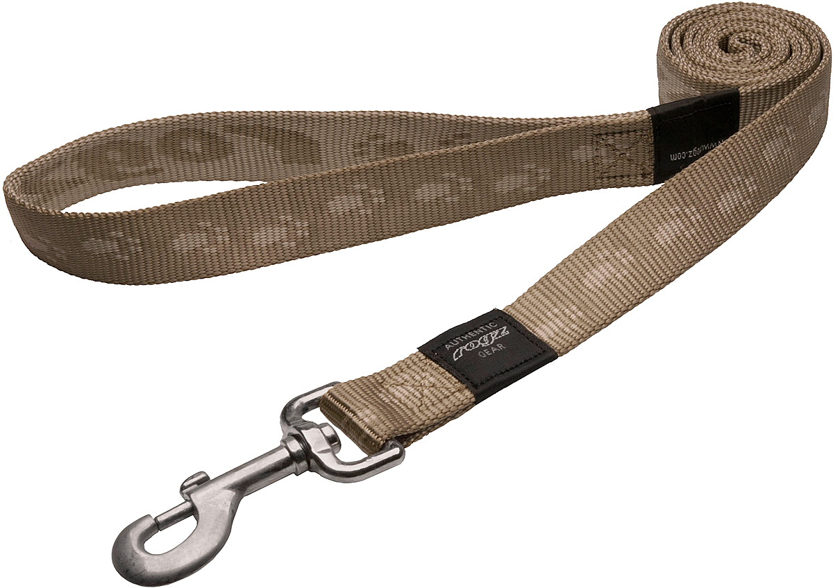 Поводок для собак Rogz Alpinist, цвет: золотистый, ширина 2,5 см. Размер XL поводок для собак rogz alpinist цвет золотистый ширина 4 см размер xxl