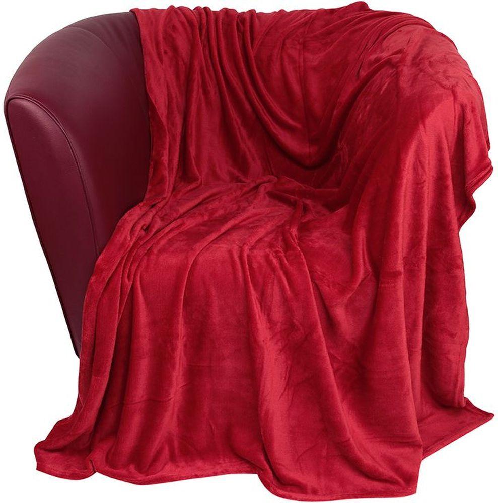 Плед EL Casa, цвет: красный, 200 х 230 см960044Уютный, легкий и прочный плед EL Casa, выполненный из полиэстера, послужит украшением декора вашей комнаты и согреет вас и ваших близких.Устойчив к истиранию и скатыванию, не мнется, не деформируется, сохранит первоначальный вид даже при активном использовании и многочисленных стирках. Такой плед идеален в качестве подарка на любой праздник. Изделие поставляется в подарочной сумке с ручками.Плотность - 320 г/м2.