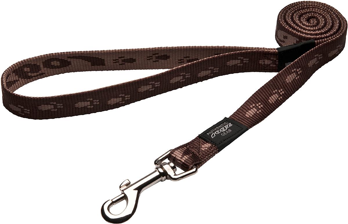 Поводок для собак Rogz Alpinist, цвет: коричневый, ширина 2 см. Размер LHL25JПоводок для собак Rogz Alpinist изготовлен из нейлона и снабжен металлическим карабином. Особо мягкая, но очень прочная лента обеспечит безопасность на прогулке даже самым активным собакам.Все соединения деталей имеют специальную дополнительную строчку для большей прочности. Выполненные специально по заказу Rogz литые кольца гальванически хромированы, что позволяет избежать коррозии и потускнения изделия.