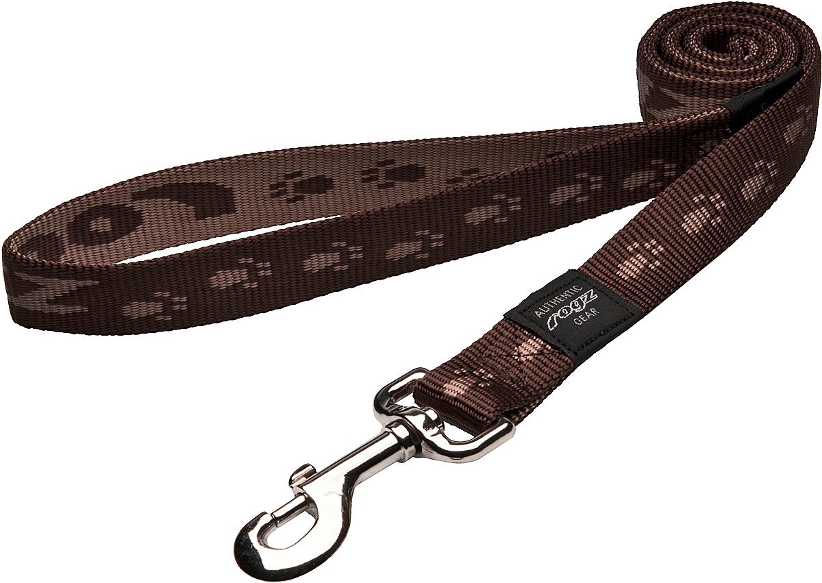 Поводок для собак Rogz Alpinist, цвет: коричневый, ширина 2,5 см. Размер XLHL27JПоводок для собак Rogz Alpinist изготовлен из нейлона и снабжен металлическим карабином. Особо мягкая, но очень прочная лента обеспечит безопасность на прогулке даже самым активным собакам.Все соединения деталей имеют специальную дополнительную строчку для большей прочности. Выполненные специально по заказу Rogz литые кольца гальванически хромированы, что позволяет избежать коррозии и потускнения изделия.