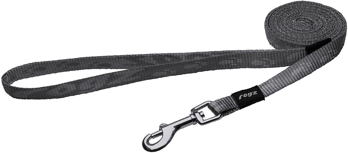 Поводок для собак Rogz Alpinist, цвет: серый, ширина 1,1 см. Размер SHL21LПоводок для собак Rogz Alpinist изготовлен из нейлона и снабжен металлическим карабином. Особо мягкая, но очень прочная лента обеспечит безопасность на прогулке даже самым активным собакам.Все соединения деталей имеют специальную дополнительную строчку для большей прочности. Выполненные специально по заказу Rogz литые кольца гальванически хромированы, что позволяет избежать коррозии и потускнения изделия.
