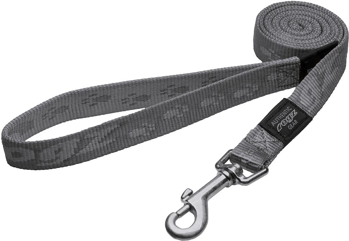 Поводок для собак Rogz Alpinist, цвет: серый, ширина 2 см. Размер LHL25LПоводок для собак Rogz Alpinist изготовлен из нейлона и снабжен металлическим карабином. Особо мягкая, но очень прочная лента обеспечит безопасность на прогулке даже самым активным собакам.Все соединения деталей имеют специальную дополнительную строчку для большей прочности. Выполненные специально по заказу Rogz литые кольца гальванически хромированы, что позволяет избежать коррозии и потускнения изделия.