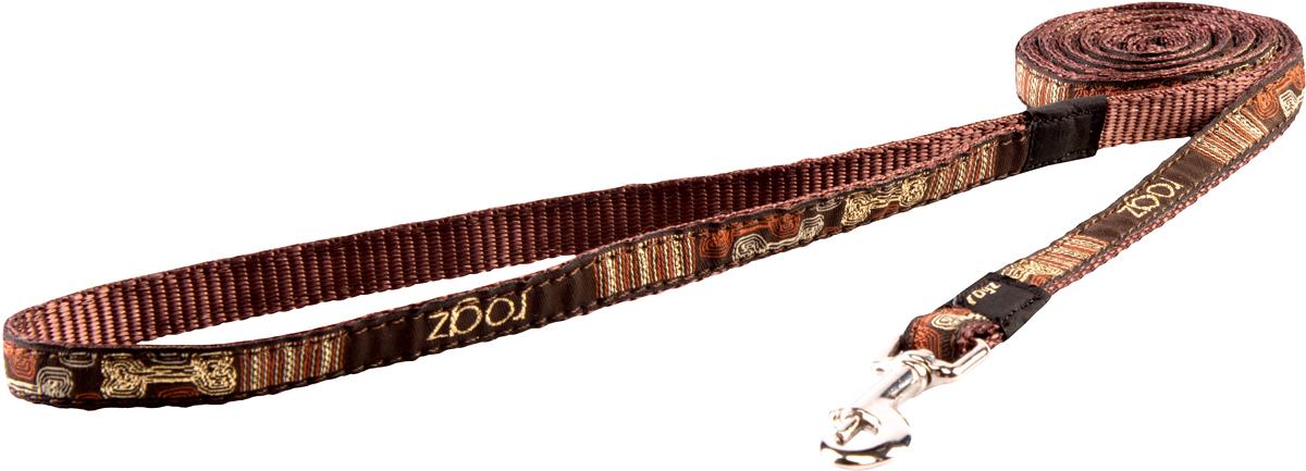 Поводок для собак Rogz Fancy Dress, цвет: синий, ширина 1,1 смHL01CEПоводок для собак Rogz Fancy Dress с потрясающе красивым орнаментом на прочной тесьме поверх нейлоновой ленты украсит вашего питомца.Необыкновенно крепкий и прочный поводок.Выполненные по заказу литые кольца выдерживают значительные физические нагрузки и имеют хромирование, нанесенное гальваническим способом, что позволяет избежать коррозии и потускнения изделия.
