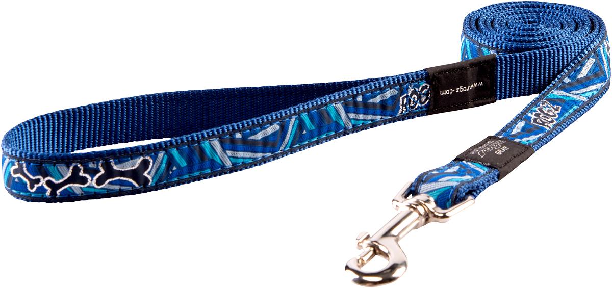 Поводок для собак Rogz Fancy Dress, цвет: розовый, ширина 1,6 смHL12CDПоводок для собак Rogz Fancy Dress с потрясающе красивым орнаментом на прочной тесьме поверх нейлоновой ленты украсит вашего питомца.Необыкновенно крепкий и прочный поводок.Выполненные по заказу литые кольца выдерживают значительные физические нагрузки и имеют хромирование, нанесенное гальваническим способом, что позволяет избежать коррозии и потускнения изделия.