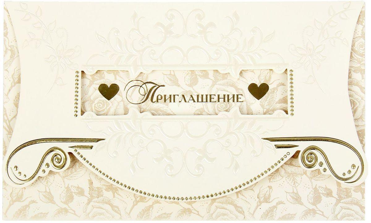 Приглашение на свадьбу Барокко, 19 х 12,5 см приглашения на свадьбу москва недорого