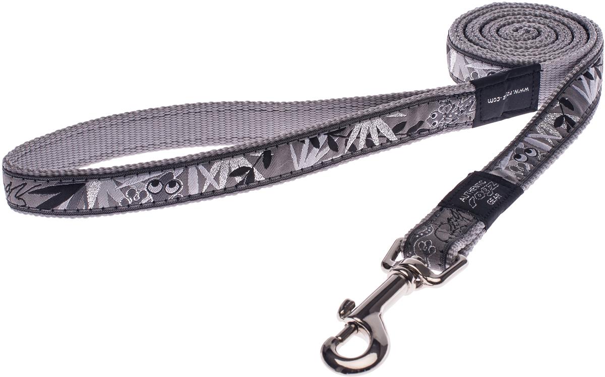 Поводок для собак Rogz Fancy Dress, цвет: серый, ширина 2 смHL03BSПоводок для собак Rogz Fancy Dress с потрясающе красивым орнаментом на прочной тесьме поверх нейлоновой ленты украсит вашего питомца.Необыкновенно крепкий и прочный поводок.Выполненные по заказу литые кольца выдерживают значительные физические нагрузки и имеют хромирование, нанесенное гальваническим способом, что позволяет избежать коррозии и потускнения изделия.