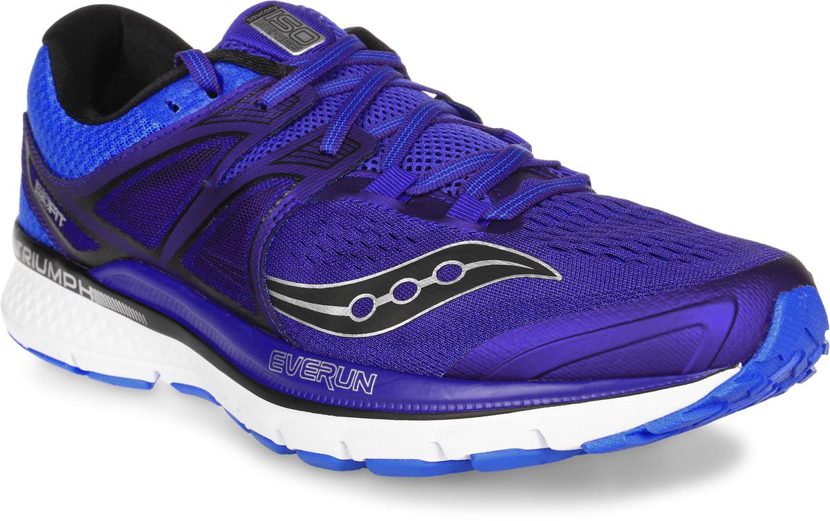 Кроссовки для бега мужские Saucony Triumph Iso3, цвет: синий. S20346-1. Размер 9,5 (43)S20346-1Мужские кроссовки для бега Saucony Triumph Iso3 выполнены из сетчатого текстиля и полимера, отличающихся эластичностью и легкостью.Материал очень мягкий и отлично пропускает воздух, позволяя ногам дышать. Конструкция ISOFIT обеспечивает плотное прилегание стопы, способствуя эффективной спортивной посадке. Максимальная амортизация для нейтральных пронаторов.Новая версия модели Triumph отличается дополнительной вставкой из материала EVERUN в пяточной части, а также слоем из EVERUN, расположенным прямо под стелькой, уменьшает ударную нагрузку, распределяя ее по всей стопе. Шнуровка надежно фиксирует модель на ноге. Внутренняя поверхность и стелька из текстиля комфортны при движении.Подошва с технологией TRI-Flex, изготовленная из высококачественной легкой резины, обеспечивает гибкость и идеальное сцепление. Поверхность подошвы дополнена рельефным рисунком.