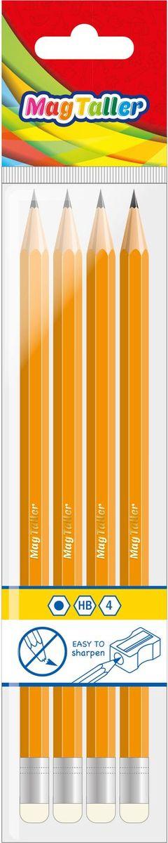 MagTaller Карандаш чернографитный Musta 4 шт602005Чернографитные карандаши MagTaller - шестигранные, ударопрочные, легкозатачиваемые. Корпус выполнен из натурального дерева, покрытого многослойным лаком. Диаметр грифеля: 3 мм.