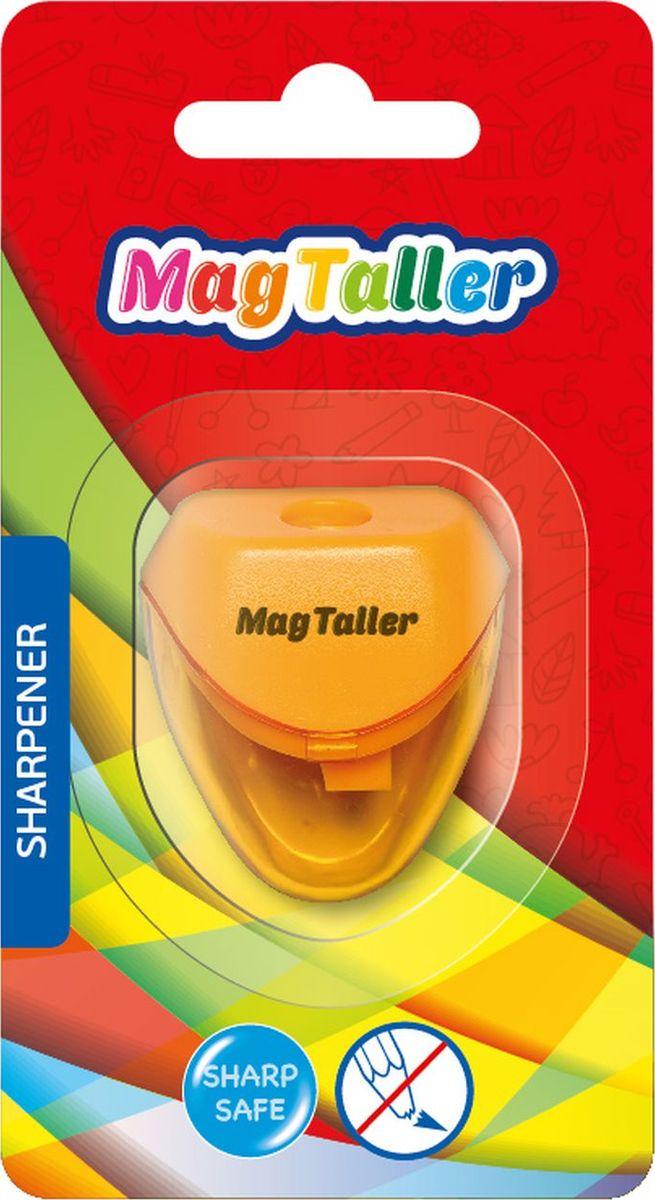 MagTaller Точилка Astia604204Пластиковый корпус, безопасное лезвие из нержавеющей стали, прозрачный контейнер для стружки, ассортимент цветов.
