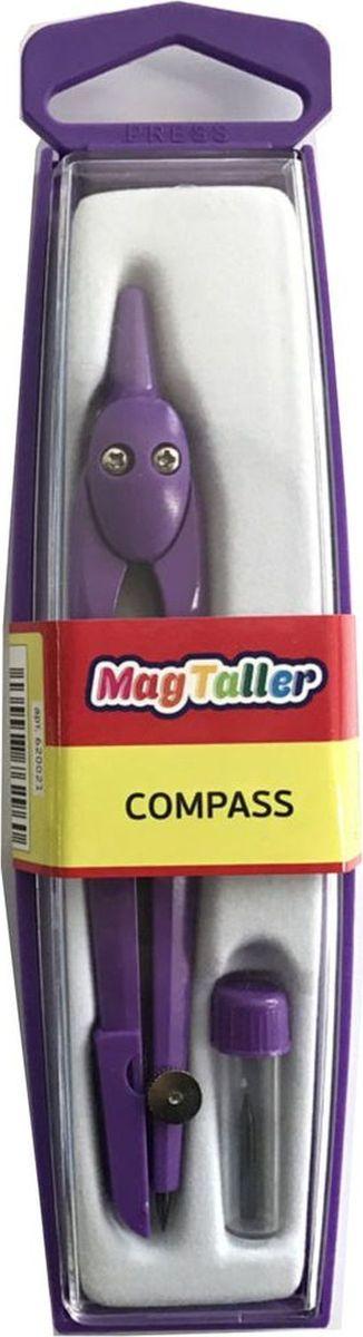 MagTaller Циркуль Harppi620021Корпус из аллюминиевого сплава, защита иглы, пластиковый кейс, пенал с запасным грифелем, ассортимент цветов
