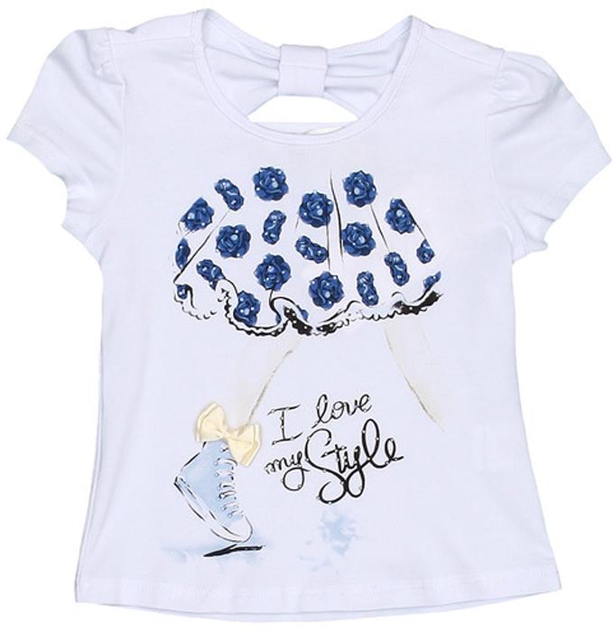 Футболка для девочки Vitacci, цвет: белый. 2152321-04. Размер 922152321-04Замечательная футболка для маленькой модницы с оригинальным принтом отлично подойдет как для прогулки, так и для праздничного мероприятия.
