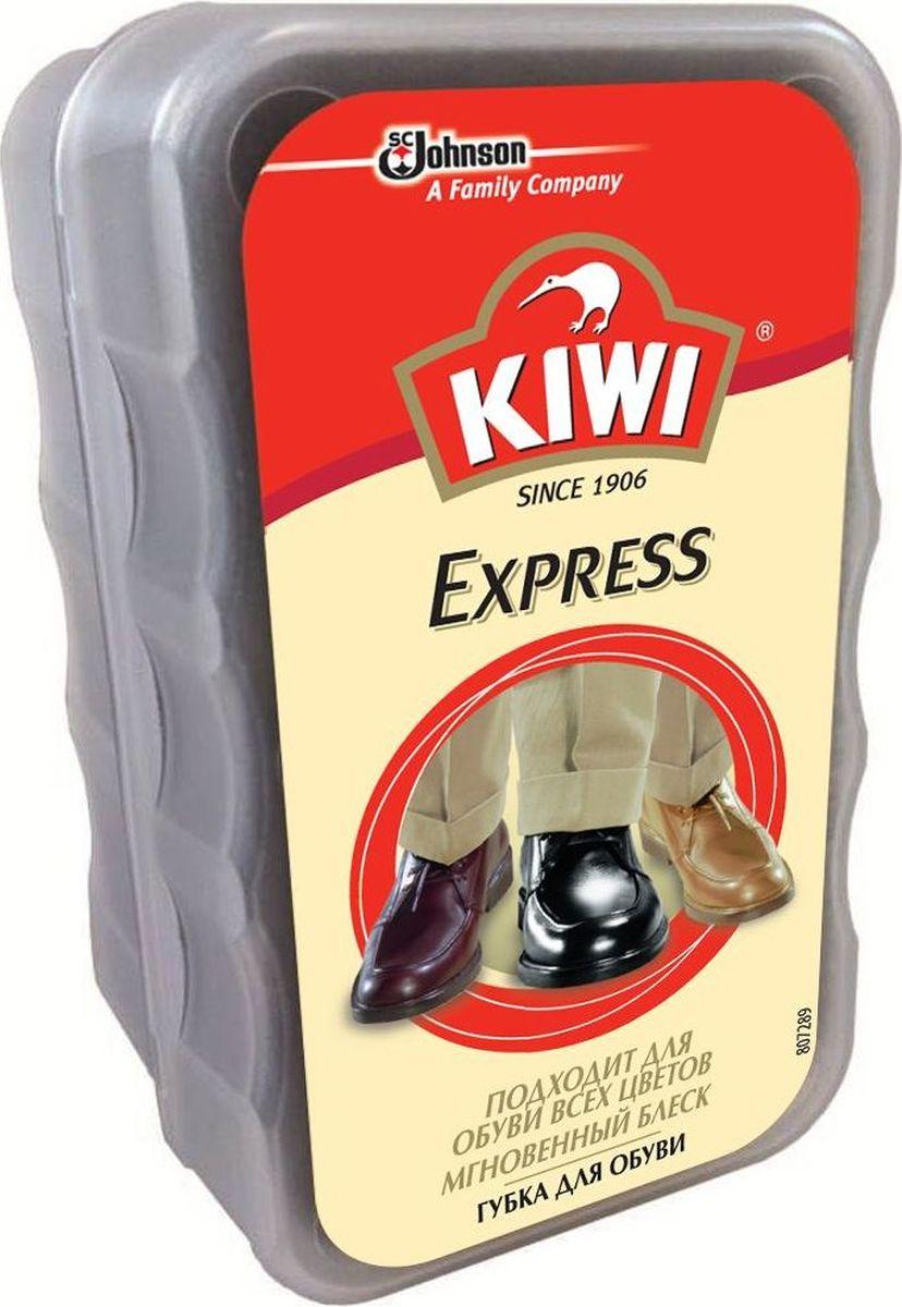 Губка для обуви Kiwi. Экспресс, без дозатора, бесцветная губка для обуви kiwi express shine с дозатором цвет прозрачный 7 мл