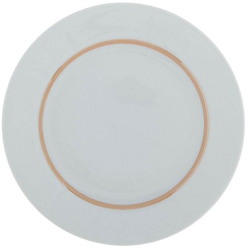 Тарелка мелкая Дулевский Фарфор Отводка люстром, диаметр 24 см