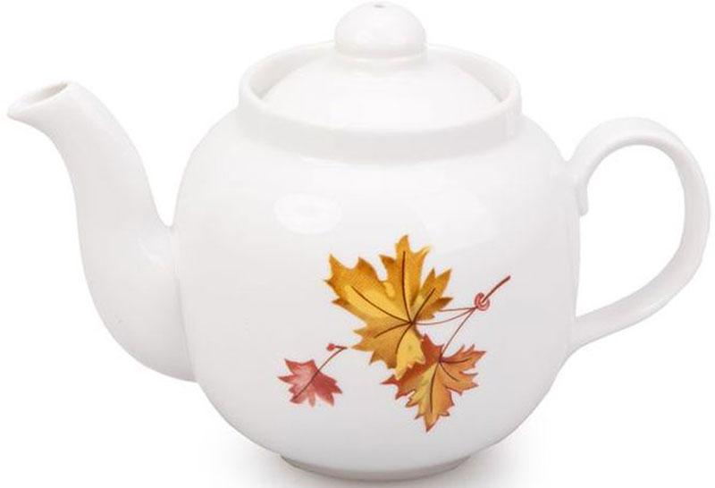 Чайник заварочный Дулевский Фарфор Рубин. Клен, 700 мл050962Заварочный чайник Дулевский Фарфор выполнен из высококачественного фарфора, покрытого глазурью. Изделие прекрасно подходит для заваривания вкусного и ароматного чая, травяных настоев. Оригинальный дизайн сделает чайник настоящим украшением стола. Он удобен в использовании и понравится каждому.