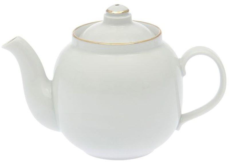 Чайник заварочный Дулевский Фарфор Янтарь. Отводка золотом, 700 мл