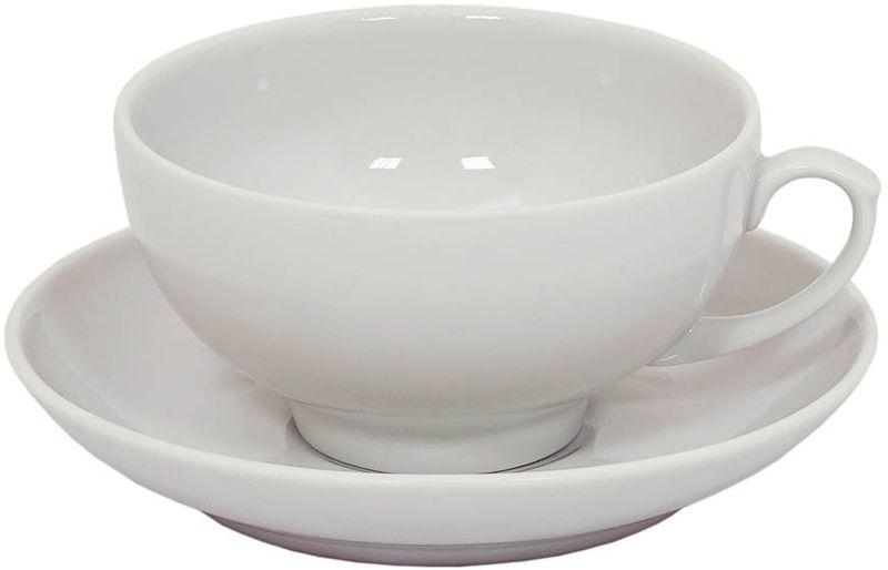 Чашка чайная Дулевский Фарфор Янтарь. Белая, с блюдцем, 210 мл001432Чашка с блюдцем Дулевский Фарфор выполнены из высококачественного фарфора. Посуда из такого материала позволяет сохранить истинный вкус напитка, а также помогает ему дольше оставаться теплым.