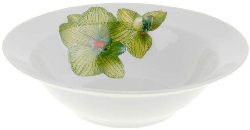 Миска Дулевский Фарфор Орхидея зеленая, 300 мл040422Миска Дулевский Фарфор выполнена из высококачественного фарфора, покрытого глазурью.Изделие дополнено красочным рисунком. Такая миска пригодится на любой кухне. В ней можносервировать различные блюда или использовать как суповую тарелку.