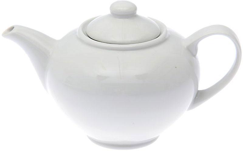 Чайник заварочный Дулевский Фарфор Удачный. Белый, 800 мл