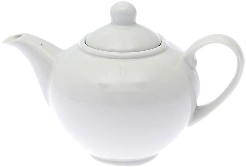Чайник заварочный Дулевский Фарфор Удачный. Белый, 550 мл065122Заварочный чайник Дулевский Фарфор выполнен из высококачественного фарфора, покрытого глазурью. Изделие прекрасно подходит для заваривания вкусного и ароматного чая, травяных настоев. Оригинальный дизайн сделает чайник настоящим украшением стола. Он удобен в использовании и понравится каждому.