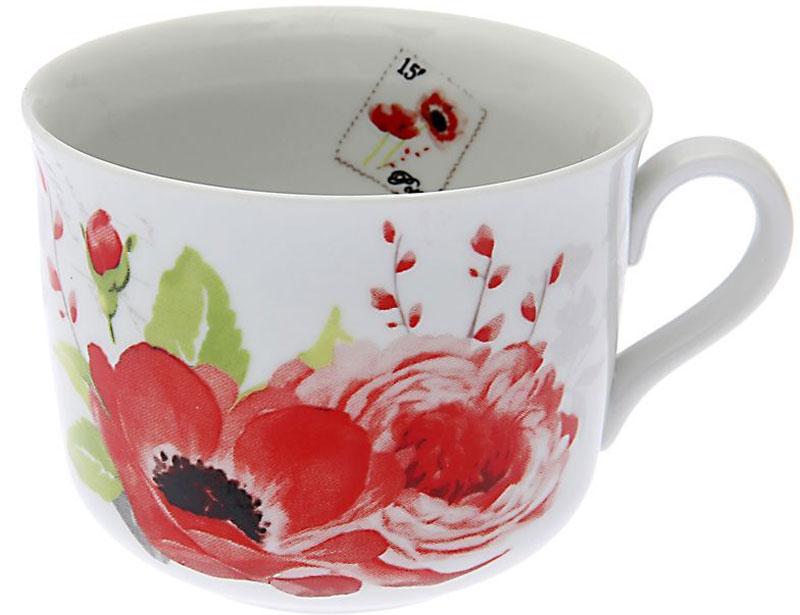"""Чашка """"Дулевский Фарфор"""" выполнена из высококачественного фарфора и оформлена оригинальным рисунком. Посуда из такого материала позволяет сохранить истинный вкус напитка, а также помогает ему дольше оставаться теплым."""