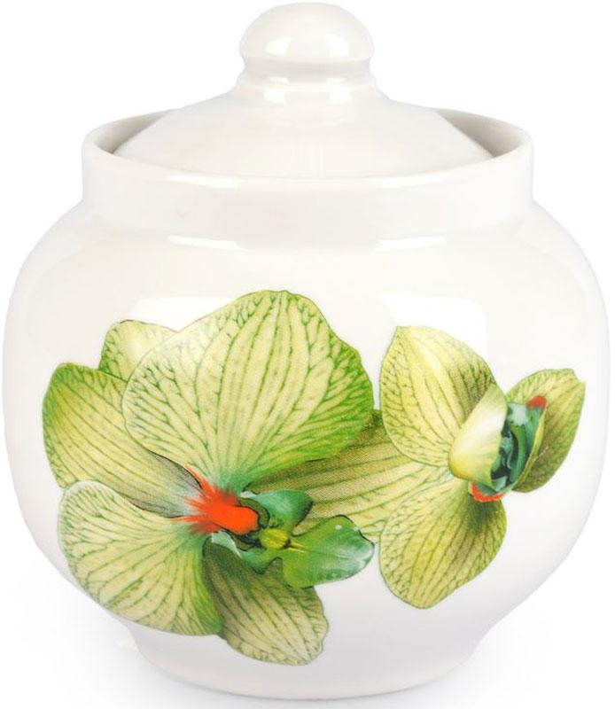 Сахарница Дулевский Фарфор Янтарь. Орхидея зеленая , 600 мл цена
