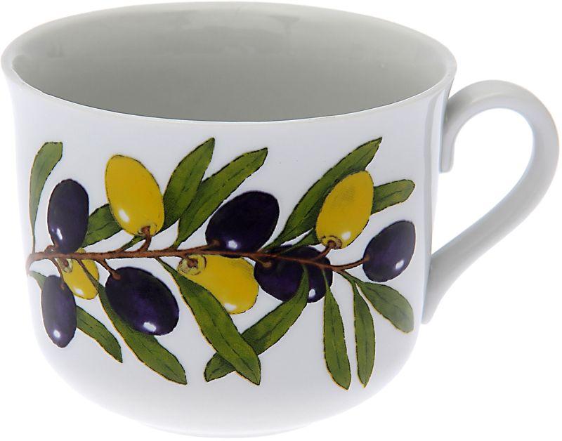 Чашка чайная Дулевский Фарфор Ностальгия. Оливки, 450 мл068942Чашка Дулевский Фарфор выполнена из высококачественного фарфора и оформлена оригинальным рисунком. Посуда из такого материала позволяет сохранить истинный вкус напитка, а также помогает ему дольше оставаться теплым.