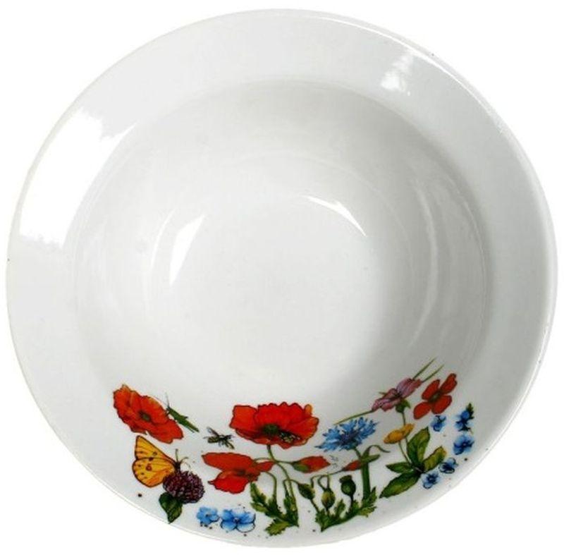 Миска Дулевский Фарфор Цветущий луг, 300 мл073402Миска Дулевский Фарфор Цветущий луг выполнена из высококачественного фарфора, покрытого глазурью. Изделие дополнено красочным рисунком. Такая миска пригодится на любой кухне. В ней можно сервировать различные блюда или использовать как суповую тарелку.