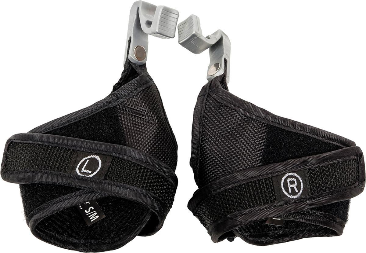Темляки для палок для скандинавской ходьбы CMD Sport, съемные, S-MCMD-strap-1-S-MСъемные темляки подойдут к палкам CMD Sport синего и черного цвета, к палкам CMD Sport с системой anti-shock, трехсекционным палкам и телескопическим палкам CMD Sport carbon 60%. Конструкция темляков позволяет быстро закрепить их на ручке палок или отсоединить во время тренировки или разминки.Так же эти съемные темляки можно использовать с палками NordicPro и Iluum, потому что крепление к ручке является для этих палок универсальным.