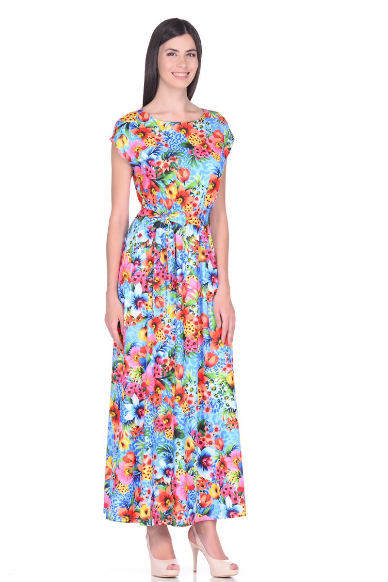 Платье EseMos, цвет: голубой, зеленый, коралловый. 103. Размер 44103Великолепное платье EseMos в пол, изготовленное из струящегося материала масло в изысканной современной расцветке. Женственный силуэт без рукавов, изящно присобран по талии на мягкую резинку, образуя плавные ниспадающие складки по юбке-макси. Талию подчеркивает пояс-завязка, придает свою изюминку, делая образ совершенным. Платье в пол популярно в этом сезоне. Модель превосходно садится, красиво обрисовывая фигуру, визуально корректирует силуэт, делая образ более стройным и привлекательным.
