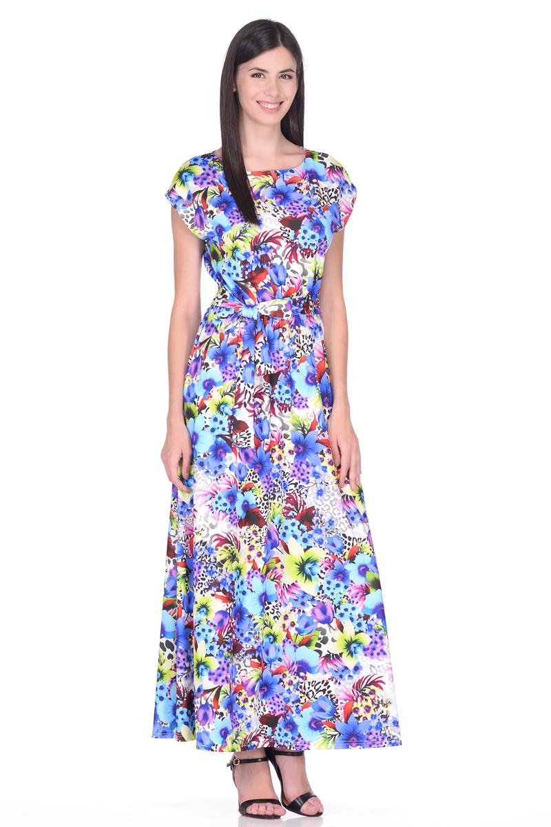 Платье EseMos, цвет: фиолетовый, зеленый, серый. 103. Размер 50103Великолепное платье EseMos в пол, изготовленное из струящегося материала масло в изысканной современной расцветке. Женственный силуэт без рукавов, изящно присобран по талии на мягкую резинку, образуя плавные ниспадающие складки по юбке-макси. Талию подчеркивает пояс-завязка, придает свою изюминку, делая образ совершенным. Платье в пол популярно в этом сезоне. Модель превосходно садится, красиво обрисовывая фигуру, визуально корректирует силуэт, делая образ более стройным и привлекательным.