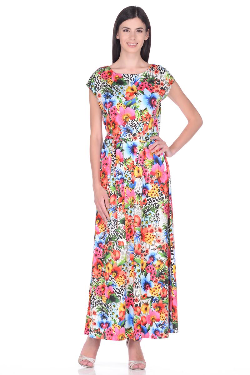 Платье EseMos, цвет: розовый, голубой, желтый. 103. Размер 50103Великолепное платье EseMos в пол, изготовленное из струящегося материала масло в изысканной современной расцветке. Женственный силуэт без рукавов, изящно присобран по талии на мягкую резинку, образуя плавные ниспадающие складки по юбке-макси. Талию подчеркивает пояс-завязка, придает свою изюминку, делая образ совершенным. Платье в пол популярно в этом сезоне. Модель превосходно садится, красиво обрисовывая фигуру, визуально корректирует силуэт, делая образ более стройным и привлекательным.