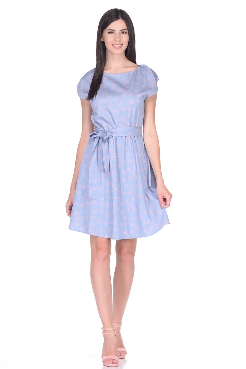 Платье EseMos, цвет: серо-голубой, розовый. 113/1. Размер 42113/1Платье EseMos выполнено из хлопковой ткани в привлекательной расцветке. Женственный силуэт без рукавов, изящно присобран по талии на мягкую резиночку, образуя плавные ниспадающие складочки по юбке. Талию подчеркивает пояс-завязка, придает изюминку. Модель превосходно садится по фигуре, скрывая возможные несовершенства, подчеркивает достоинства, дарит ощущения легкости и комфорта.
