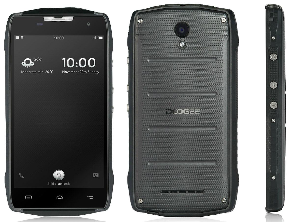 Doogee T5 Lite, BlackT5Lite_BlackТолько ты решаешь, какой стиль выберешь для себя сегодня - строгий предприниматель или брутальный путешественник. Смартфон Doogee T5 Lite примет любой облик, полностью меняясь как снаружи, так и изнутри всего за несколько секунд!Благодаря классу защиты от воды и пыли IP67 смартфон Doogee T5 Lite прекрасно чувствует себя где угодно — в бассейне, жаркой пустыне или самых суровых погодных условиях.Обычные смартфоны с тройной защитой не отличаются высоким качеством фото, но только не Doogee T5 Lite.Благодаря сочетанию основной камеры Sony 8 Мпикс и фронтальной камеры 5 Мпикс качество съемки выходит на новый уровень.Благодаря линейке 64-битных процессоров ARM новый смартфон работает еще быстрее, а объем памяти в 16 ГБ позволяет забыть о недостатке свободного места.Настраиваемый интерфейс пользователя и ОС Android 6.0. Теперь, лишь взглянув на экран смартфона, можно по внешнему виду приложения или операционной системы знать, что смартфон надежно защищен от любых погодных условий. Оцените эту уникальную функцию, и графический интерфейс будет автоматически изменяться каждый раз, когда меняется стиль смартфона.Обычные смартфоны с тройной защитой не оснащаются аккумуляторами большой емкости. Функции Doze и App Standby ОС Android 6.0 автоматически закрывают приложения, не используемые в течение долгого времени,продлевая время заряда аккумулятора, а зарядное устройство на 5В / 2А позволяет зарядить смартфон максимально быстро.Телефон сертифицирован EAC и имеет русифицированный интерфейс меню и Руководство пользователя.