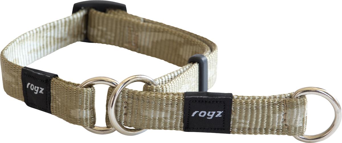 Полуудавка для собак Rogz Alpinist, цвет: золотистый, ширина 1,6 см. Размер MHBC23MОшейник-полуудавка Rogz Alpinist изготовлен из нейлона, металла и пластика. Высококачественные ленты Rogz мягкие в руках, но обладают высокой прочностью. Особое плетение полотна способствует увеличению уровня прочности и защиты. Специальная конструкция пряжки Rog Loc - очень крепкая (система Fort Knox). Замок может быть расстегнут только рукой человека. Технология распределения нагрузки позволяет снизить нагрузку на пряжки, изготовленные из титанового пластика, с помощью правильного и разумного расположения грузовых колец.Особые контурные пластиковые компоненты. Специальная округлая форма конструкции позволяет ошейнику комфортно облегать шею собаки.Выполненные специально по заказу Rogz литые кольца гальванически хромированы, что позволяет избежать коррозии и потускнения изделия.