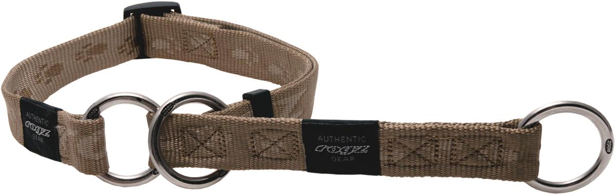 Полуудавка для собак Rogz Alpinist, цвет: золотистый, ширина 2,5 см. Размер XL полуудавка для собак rogz alpinist цвет золотистый ширина 6 см размер l