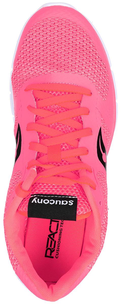 Женские кроссовки Saucony Trinity - отличная модель для тренировок в зале и повседневного ношения. Верх модели выполнен из воздухопроницаемого сетчатого материала. Трансформированная сетка с напаянными элементами обеспечивает комфорт и долговечность. Шнуровка надежно фиксирует обувь на ноге и позволяет отрегулировать объем.  Подошва из легкого материала обеспечивает мягкую амортизацию без утяжеления. Рельефная поверхность подошвы из высококачественной резины, создает отличное сцепление, даря уверенность каждому шагу.
