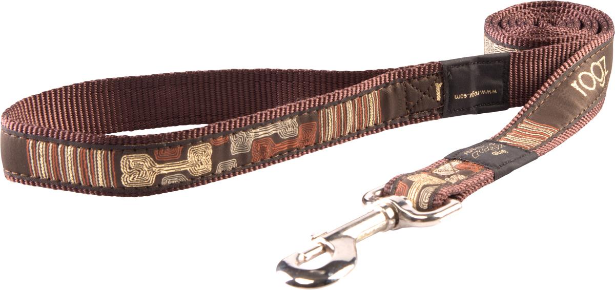 Поводок для собак Rogz Fancy Dress, цвет: коричневый, ширина 2 смHL03CEПоводок для собак Rogz Fancy Dress с потрясающе красивым орнаментом на прочной тесьме поверх нейлоновой ленты украсит вашего питомца.Необыкновенно крепкий и прочный поводок.Выполненные по заказу литые кольца выдерживают значительные физические нагрузки и имеют хромирование, нанесенное гальваническим способом, что позволяет избежать коррозии и потускнения изделия.