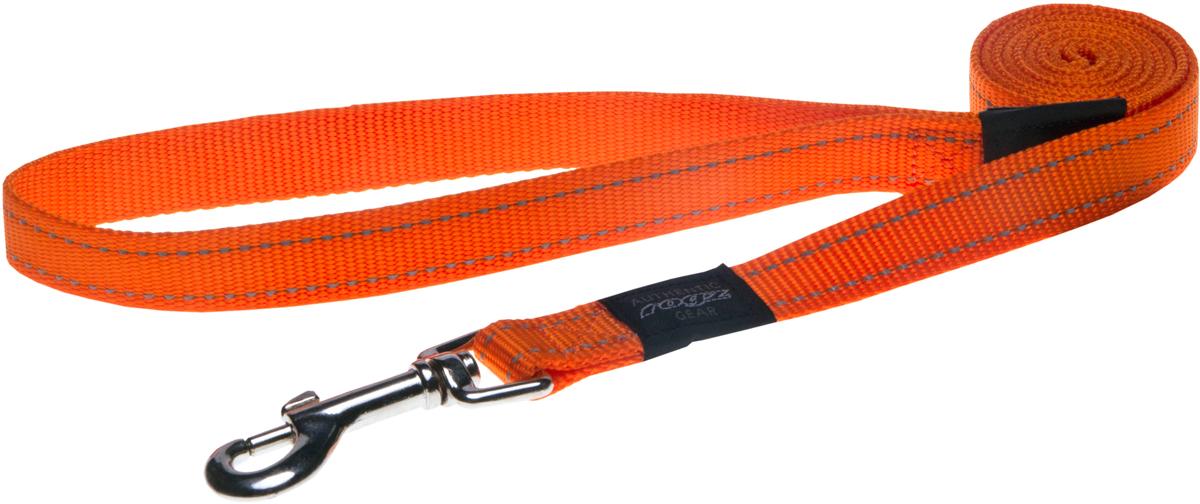 Поводок для собак Rogz Utility, цвет: оранжевый, ширина 2 см. Размер L поводок для собак rogz utility цвет желтый ширина 1 1 см размер s