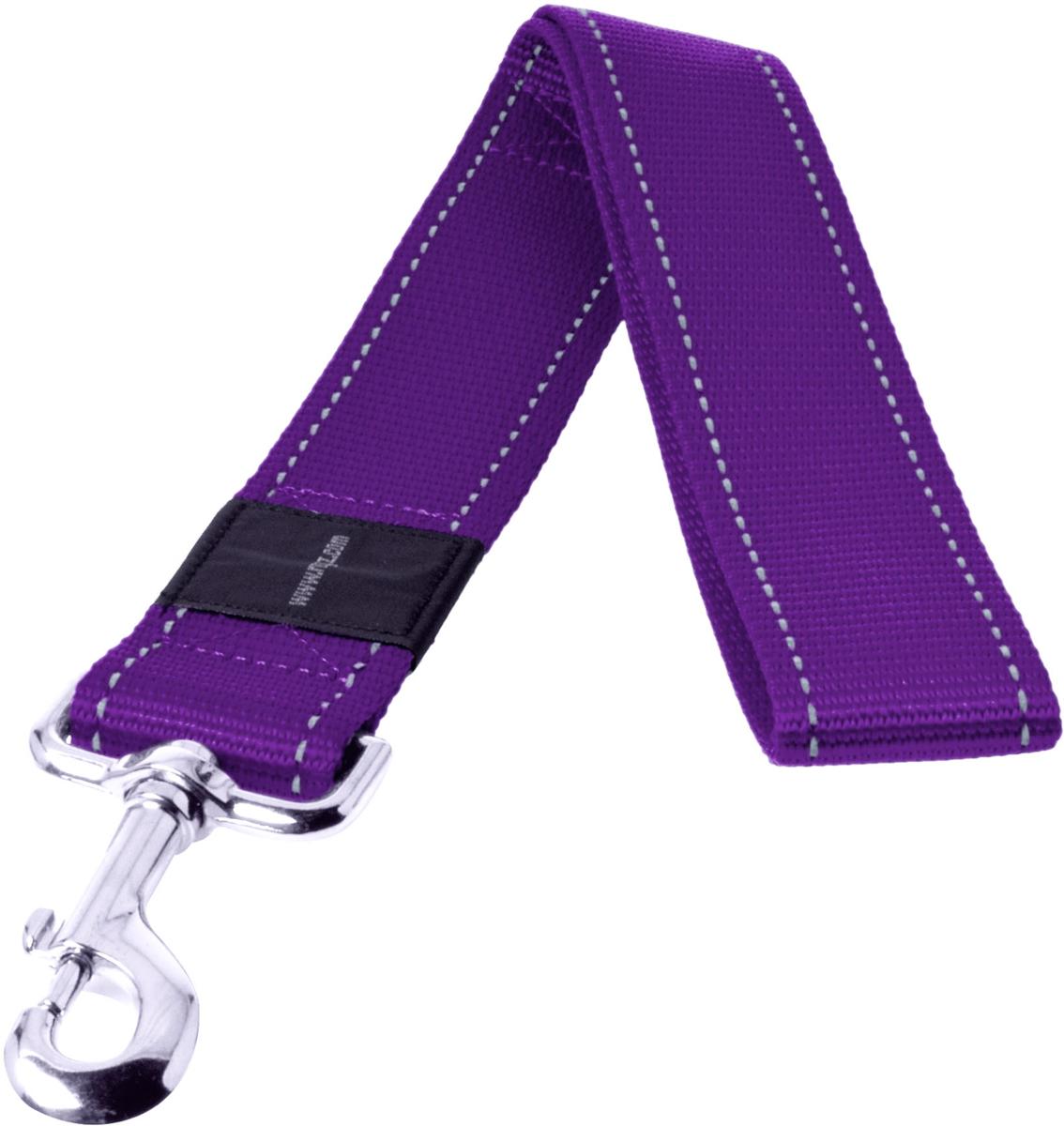 Поводок для собак Rogz Utility, цвет: фиолетовый, ширина 4 см. Размер XXLHL19EПоводок для собак Rogz Utility  со светоотражающей нитью, вплетенной в нейлоновую ленту, обеспечивает лучшую видимость собаки в темное время суток. Специальная конструкция пряжки Rog Loc - очень крепкая (система Fort Knox). Замок может быть расстегнут только рукой человека. Технология распределения нагрузки позволяет снизить нагрузку на пряжки, изготовленные из титанового пластика, с помощью правильного и разумного расположения грузовых колец, благодаря чему, даже при самых сильных рывках, изделие не рвется и не деформируется.Выполненные специально по заказу ROGZ литые кольца гальванически хромированы, что позволяет избежать коррозии и потускнения изделия.