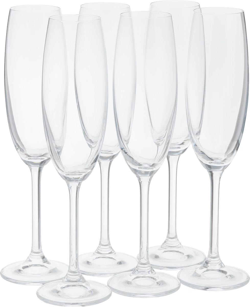Набор бокалов для шампанского Tescoma Charlie, 220 мл, 6шт306430Набор Tescoma Charlie, изготовленный из высококачественного хрустального стекла, состоит изшести бокалов. Изделия предназначены для подачи игристых вин. Они сочетают в себеэлегантный дизайн и функциональность.Набор бокалов Tescoma Charlie прекраснооформит праздничный стол и создаст приятную атмосферу за романтическим ужином. Можно мыть в посудомоечной машине.Объем бокала: 220 мл.Диаметр бокала поверхнему краю: 4,5 см.Диаметр основания: 6,5 см.Высота бокала: 24,5 см.