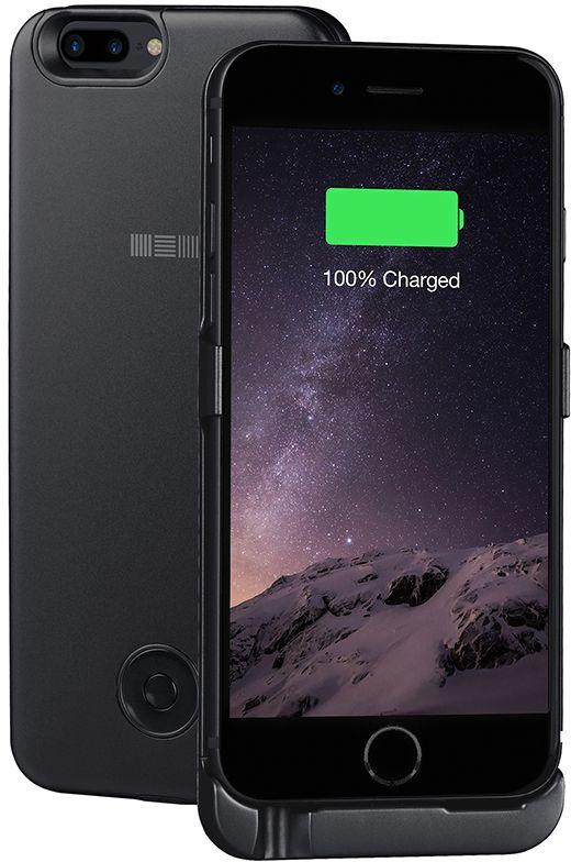 Interstep чехол-аккумулятор для iPhone 7P/6Plus, Black (5000 мАч)51432Тонкий корпус из легкого сплава алюминия всего 8мм. Встроенный аккумулятор 5000 мАч polymer, это +125% заряда смартфона. Вход питания клипа 8 pin (идентичен входу питания смартфона). Поддержка сквозного заряда - заряжает iPhone, когда заряжается сам чехол-аккумулятор (поставив на ночь на зарядку - с утра оба устройства будут заряжены). Тип аккумулятора: polymer до x1000 циклов. Вес: 145 г.Вход питания служит только для заряда, передача данных и аудио - не поддерживается. Время заряда чехла: около 5 часов. Время заряда чехол+смартфон: около 8 часов. Совместимость: iPhone 6 Plus, iPhone 7Plus. Комплектность: чехол-аккумулятор (кабель 8пин в комплект не входит).
