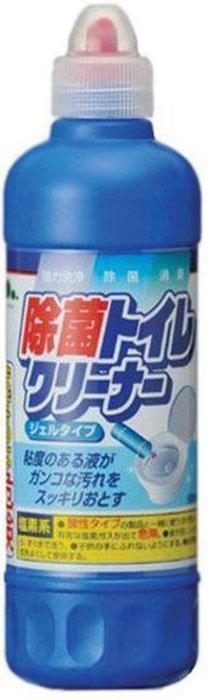"""Средство для унитаза """"Mitsuei"""" эффективно дезинфицирует и эффективно очищает сантехнику, не повреждая ее поверхности. Густая консистенция геля эффективно растворяет въевшиеся загрязнения и обладает мощным антибактериальным эффектом. Поверхность унитаза надолго остается чистой. Гель придает сантехнике приятный аромат чистоты и свежести. Эффективно борется с неприятным запахом в туалете.  Применение: нанести на загрязненные поверхности унитаза. Щеткой или губкой протереть поверхность. Смыть водой.  Состав: гипохлорит натрия, гидроксид натрия (1%), поверхностно-активное вещество (алкинаминоксид).  Товар сертифицирован.    Как выбрать качественную бытовую химию, безопасную для природы и людей. Статья OZON Гид"""