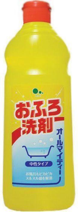 Средство для чистки ванн Mitsuei All Mighty, без аромата, 500 мл50213Дезинфицирует и очищает поверхность ванны. Средство прекрасно справляется с трудновыводимой плесенью даже в сырых помещениях, при этом удаляя неприятные запахи. Удаляет известковый налет и потемнения на кафеле в ванной комнате, до блеска отмывает застарелые, жирные пятна.